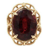 16CT Rubellite Tourmaline Ring in 14KT Yellow Gold