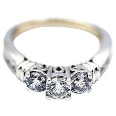 Natural Diamond Engagement Ring or Wedding Band in 14KT White Gold