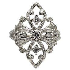 Elegant 2 CT Natural Diamond Cocktail Ring in 14KT White Gold
