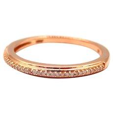 Elegant Natural Diamond Wedding Ring in 14KT Rose Gold