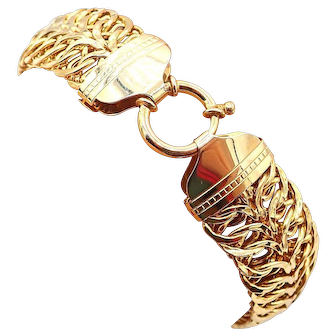 Italian Bold Linked 10KT Yellow Gold Bracelet