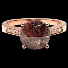Modern Rose Cut Diamond Engagement Ring in 14KT Rose Gold