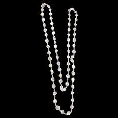20CT Organic Slice Diamond Necklace 18KT White Gold