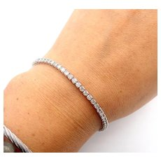 3 CT Diamond Tennis Bracelet 14KT White Gold Bracelet