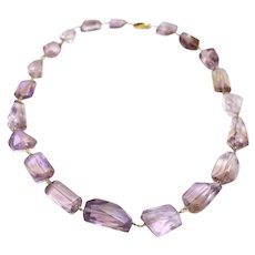 18KT Gold 400 CT Natural Ametrine Free Form Custom Cut Necklace