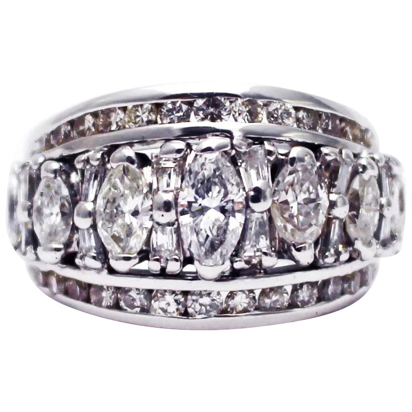 4ct Amazing Huge Natural Marquise Diamond Ring In 18kt