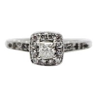 1 CT Natural Diamond Solitaire Engagement Ring in 14KT White Gold