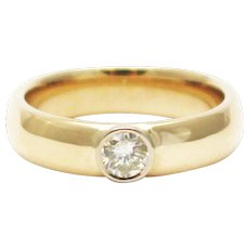 Modern Diamond Wedding Band Ring in 14KT Gold