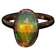 Natural Ethiopian Opal Ring in 14KT