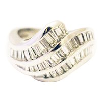 3.5 CT Bold Elegant Modern Natural Diamond Cocktail Band Ring in 18KT White Gold