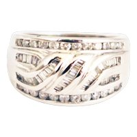 Bold Elegant 2 1/4 CT Natural Diamond Cocktail Ring in 14KT White Gold