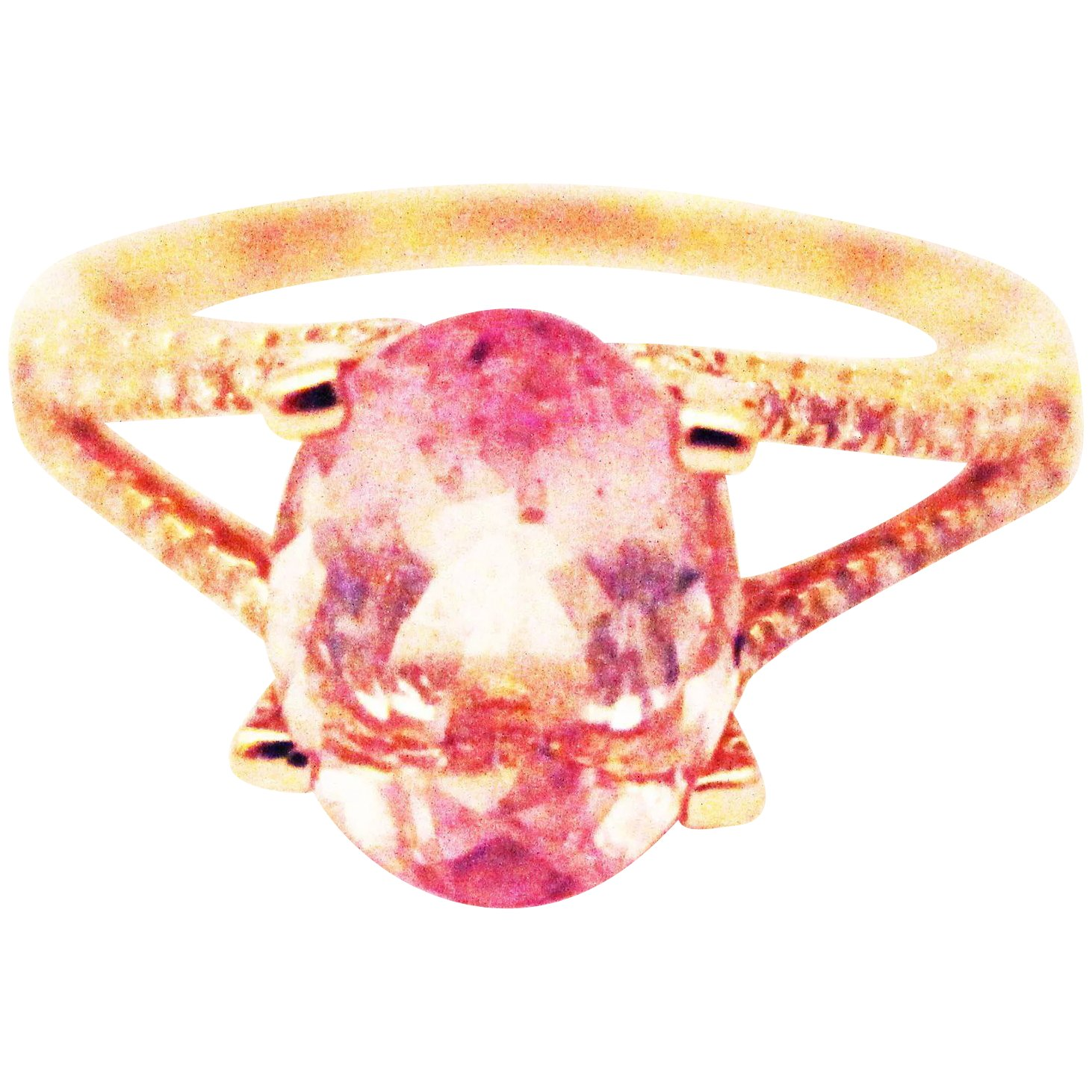 Bubble Gum Pink Tourmaline and Diamond Ring in 14KT Rose Gold ...