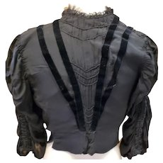1800's Victorian Traditional Mourning Blouson Top