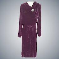 1920's VELVET Exquisite Dress