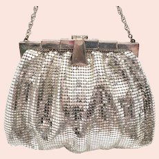 1920's Whiting & Davis Silver Mesh Purse
