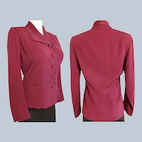 "1930's-40's ""Rosalind Russel"" Tailored Jacket"