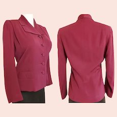 """1930's-40's """"Rosalind Russel"""" Tailored Jacket"""
