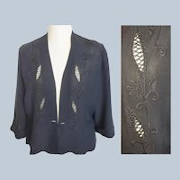 1930's - 40's Avant Garde Elegant Evening Jacket