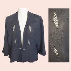 1930's - 40's Avant Garde Elegant Evening Jacket