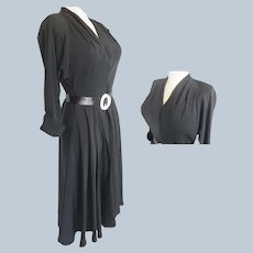 1930's - 40's Little Black Sexy Dress