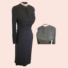 1930's - 40's Stunning, Sophisticated Little Black Dress