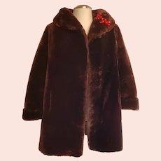 "1930's Marvelous Mouton ""Maurice Rothschild"" Fur Coat"