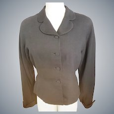 "1930's RARE ""Kipness Original"" Black Wool Jacket"