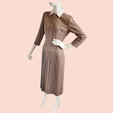 1940's Aldenaire Sophisticated 'Office' Dress
