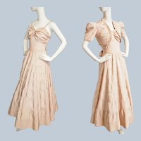 1940's Blush Pink/Peach of a Formal
