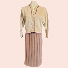 1940's Kimberly Tasty 'MOCHA' Knit Suit