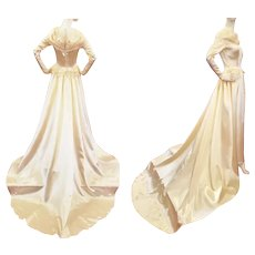 "1940's ""Colonial"" Stunning Satin Wedding Gown"