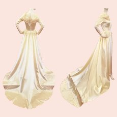 """1940's """"Colonial"""" Stunning Satin Wedding Gown"""