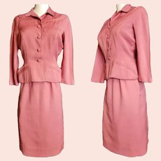 """1940's """"Victory Suit"""", Salmon-Pink Custom Tailored"""