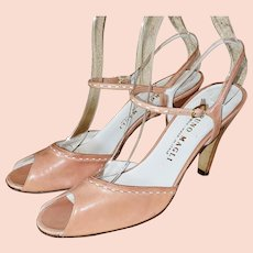 1950's-Style, Italian-Style Bruno Magli Leather Pumps
