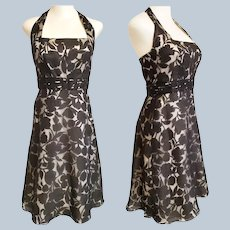 1950's - Style GLAM Halter Dress by Ann Taylor