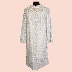 1960's-70's MOD Lace Dress-up Sheath; Size Large