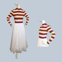 1960's - 70's Funky, Fun Knit and Flouncy Formal