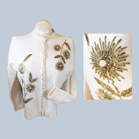 1960's ANGORA Blend Beaded Sweater