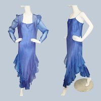 1960's Ruffled, Ravishing Rumba Dress Ensemble