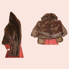 1960's Sable Stole & Hat