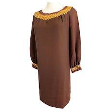 1960's Sheath Dress, Egyptian-Style