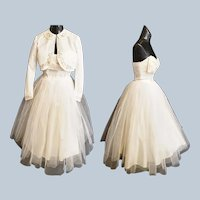1960's TEA LENGTH Wedding, Prom or Party Dress