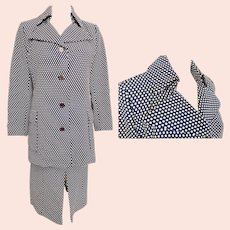 1970's Dotted-Delight Walking Suit