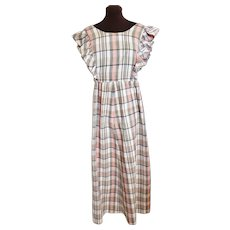 1970's Hippy Groovy Granny Dress, Sz L