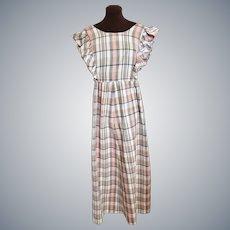 1970's Hippy Groovy Granny Dress, Sz L
