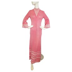 1970's MOD MAXI Knit Miss Joann of California