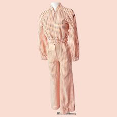 1970's MOD 'Dream-Sicle' Bell Bottom Pant Suit