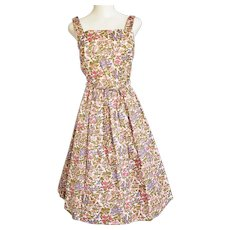1970's Summertime Dress with FULL, FULL Skirt