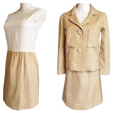 1970's Yummy Butter-Scotch 2-Piece Suit