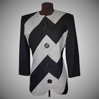 AMEN WARDY Geometric Wool Jacket